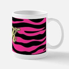 HOT PINK ZEBRA GOLD K Mugs