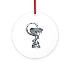 Bowl of Hygeia Ornament (Round)
