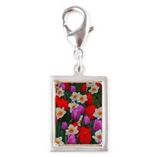 Purple tulips and white daffodils garden Charms