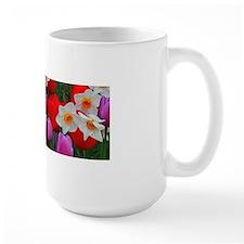 Purple tulips and white daffodils garden Mugs