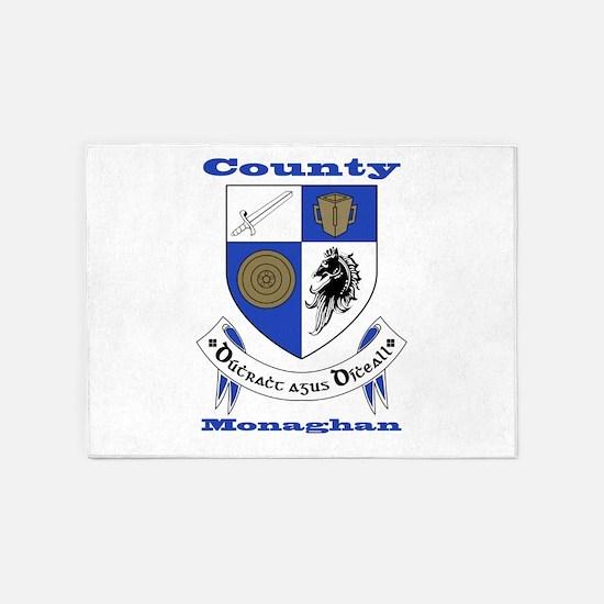 County Monaghan COA 5'x7'Area Rug
