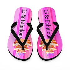 Pink Girl 25th Flip Flops