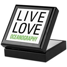 Live Love Oceanography Keepsake Box