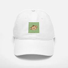 Monkey on Green Polka Dots Baseball Baseball Baseball Cap