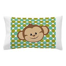 Monkey on Green Polka Dots Pillow Case