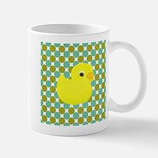 Rubber Duck on Green Polka Dots Mugs