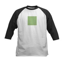 Green and blue Polka Dots Baseball Jersey