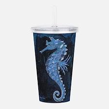 Blue Seahorse Acrylic Double-wall Tumbler