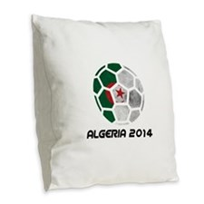 Algeria World Cup 2014 Burlap Throw Pillow