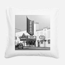 Granada Movie Theater, 1938 Square Canvas Pillow