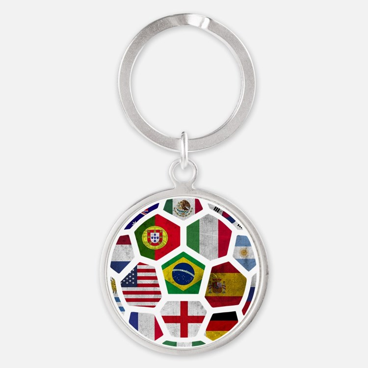 World Cup 2014 Round Keychain