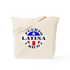 Puerto Rico Latina Tote Bag
