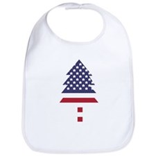 US Flag Pine Tree Bib