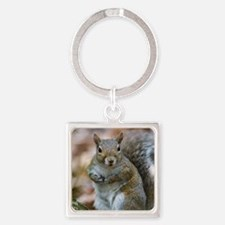 Cute Squirrel Square Keychain
