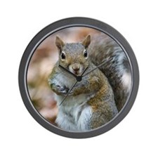 Cute Squirrel Wall Clock