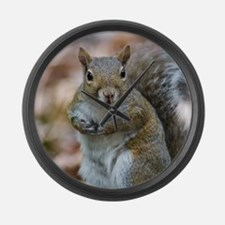 Cute Squirrel Large Wall Clock