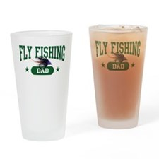 Fly fishing Dad Drinking Glass
