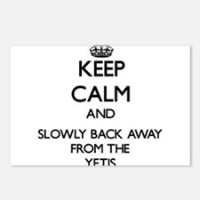 Keep calm and slowly back away from Yetis Postcard