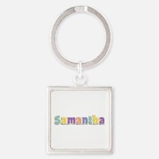Samantha Spring14 Square Keychain