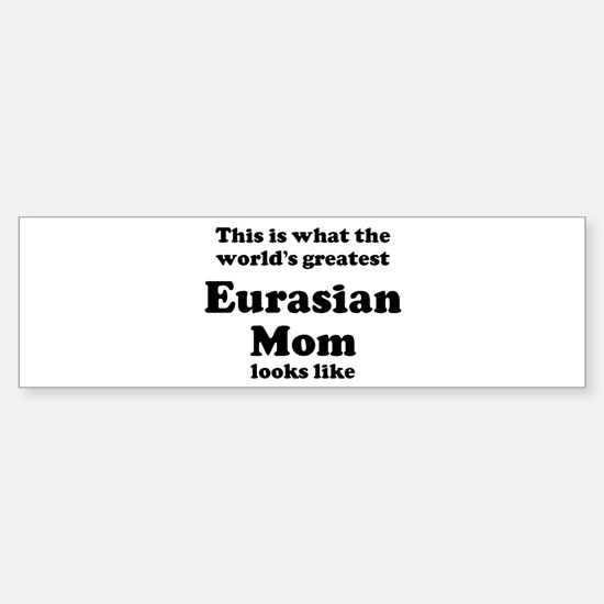Eurasian mom Bumper Car Car Sticker