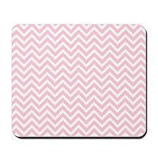pink and white chevron stripe Mousepad