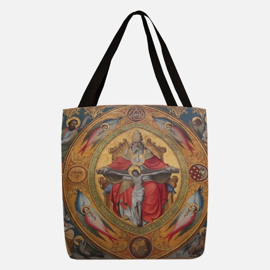 Jesus on Cross Painting Polyester Tote Bag