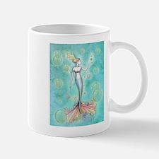 Bubbles Mermaid Fantasy Watercolor Art Mugs