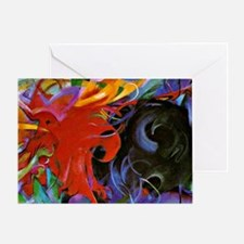 Franz Marc, Fighting Forms Greeting Card