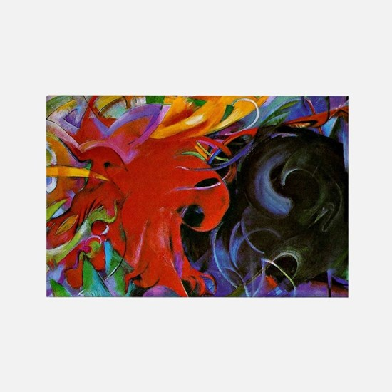 Franz Marc, Fighting Forms Rectangle Magnet