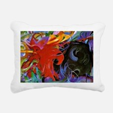 Franz Marc, Fighting For Rectangular Canvas Pillow