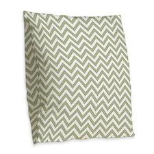taupe and white chevron stripe Burlap Throw Pillow