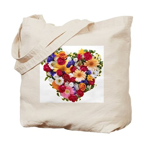 Heart Bouquet Tote Bag