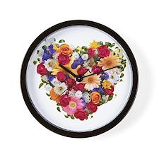Heart Bouquet Wall Clock