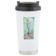 Bubbles Mermaid Fantasy Art Travel Mug