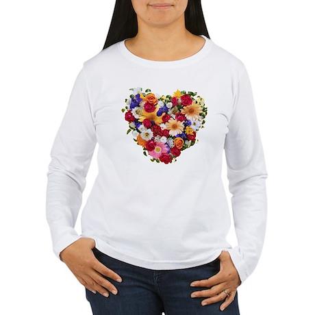 Heart Bouquet Women's Long Sleeve T-Shirt