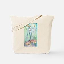Bubbles Mermaid Fantasy Art Tote Bag