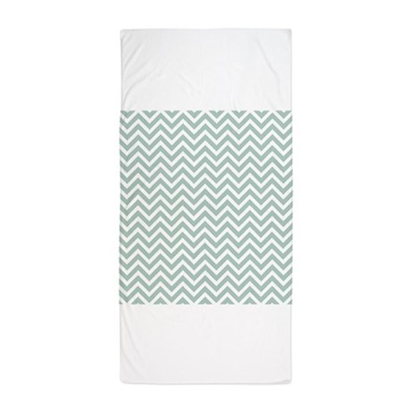 grey and white chevron stripe beach towel by designsbyheathermyers1. Black Bedroom Furniture Sets. Home Design Ideas