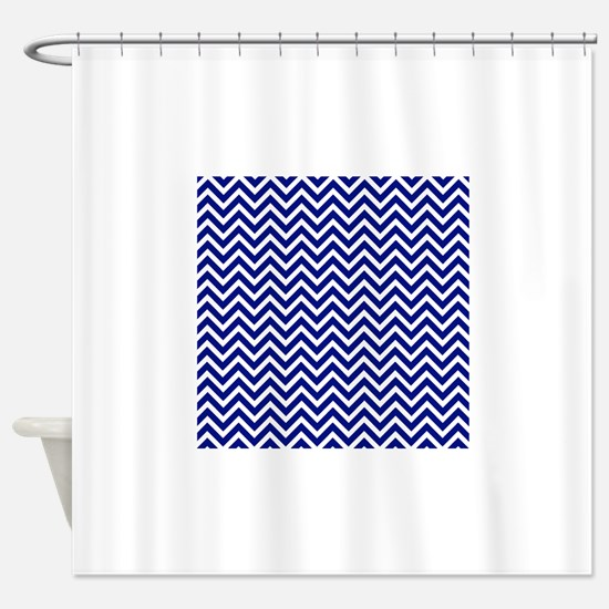 royal blue shower curtain. royal blue and white chevron stripe Shower Curtain Royal Blue Chevron Curtains  CafePress