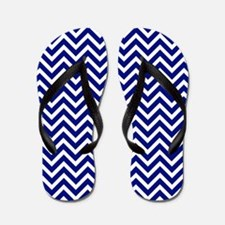 royal blue and white chevron stripe Flip Flops