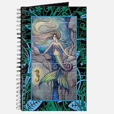 Mermaid and Seahorse Fantasy Art Journal