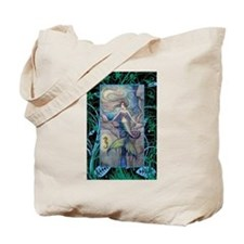 Mermaid and Seahorse Fantasy Art Tote Bag