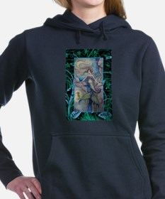 Mermaid and Seahorse Fan Women's Hooded Sweatshirt