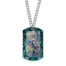 Mermaid and Seahorse Fantasy Art Dog Tags