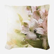 Vintage Flowers Woven Throw Pillow