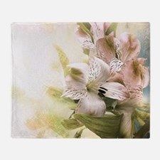 Vintage Flowers Throw Blanket