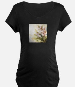 Vintage Flowers Maternity T-Shirt