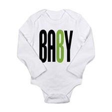 Twin Baby B Green Long Sleeve Infant Bodysuit