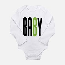 Twin Baby B Green Long Sleeve Infant Bodysuit