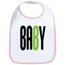 Twin Baby B Green Bib
