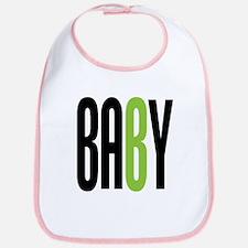 Twin Baby B Green Bib